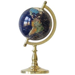 World Globe of Marble and Onyx