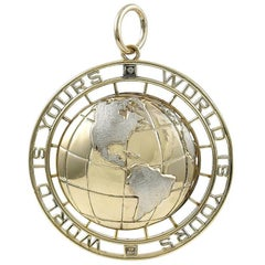 World Is Yours Gold Charm