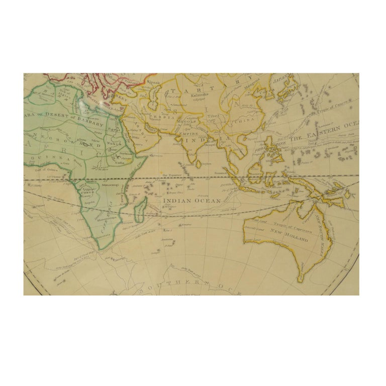 World Map Published in June 1783 by Stackhouse and Engraved by S.J. Neele London For Sale 9