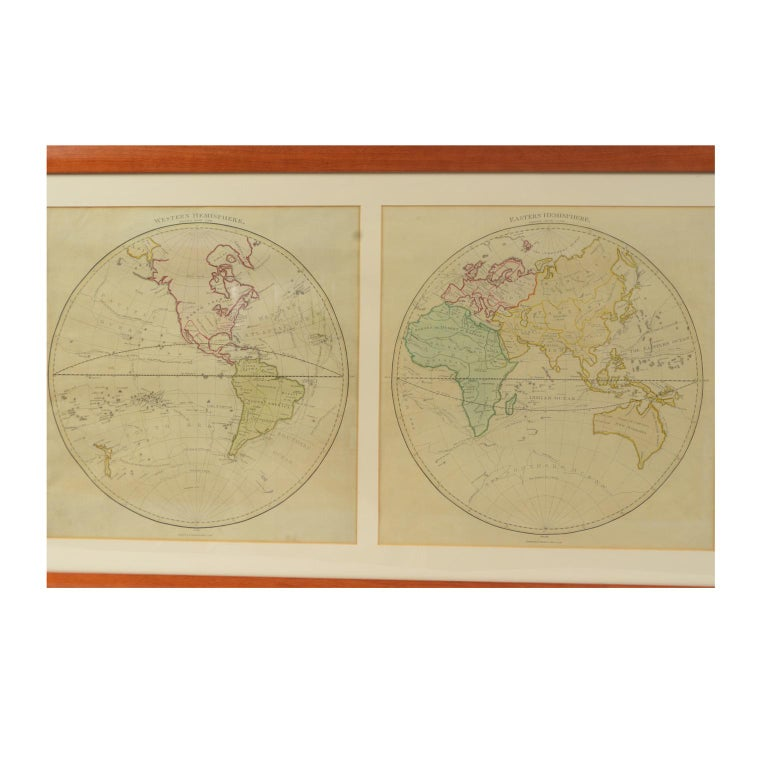 British World Map Published in June 1783 by Stackhouse and Engraved by S.J. Neele London For Sale