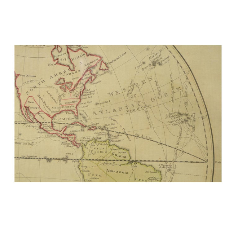 World Map Published in June 1783 by Stackhouse and Engraved by S.J. Neele London For Sale 1
