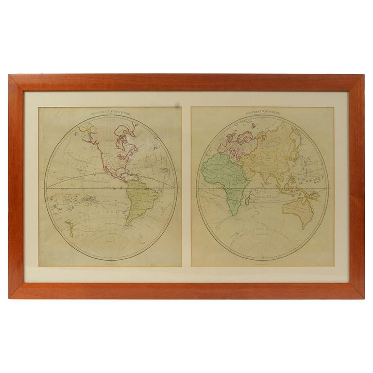 World Map Published in June 1783 by Stackhouse and Engraved by S.J. Neele London For Sale