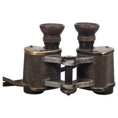 World War 1 German Imperial Army Infantry Leather Binoculars, circa 1918