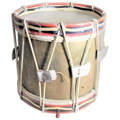 World War 2 Era French Regimental Styled Brass Marching Band Drum