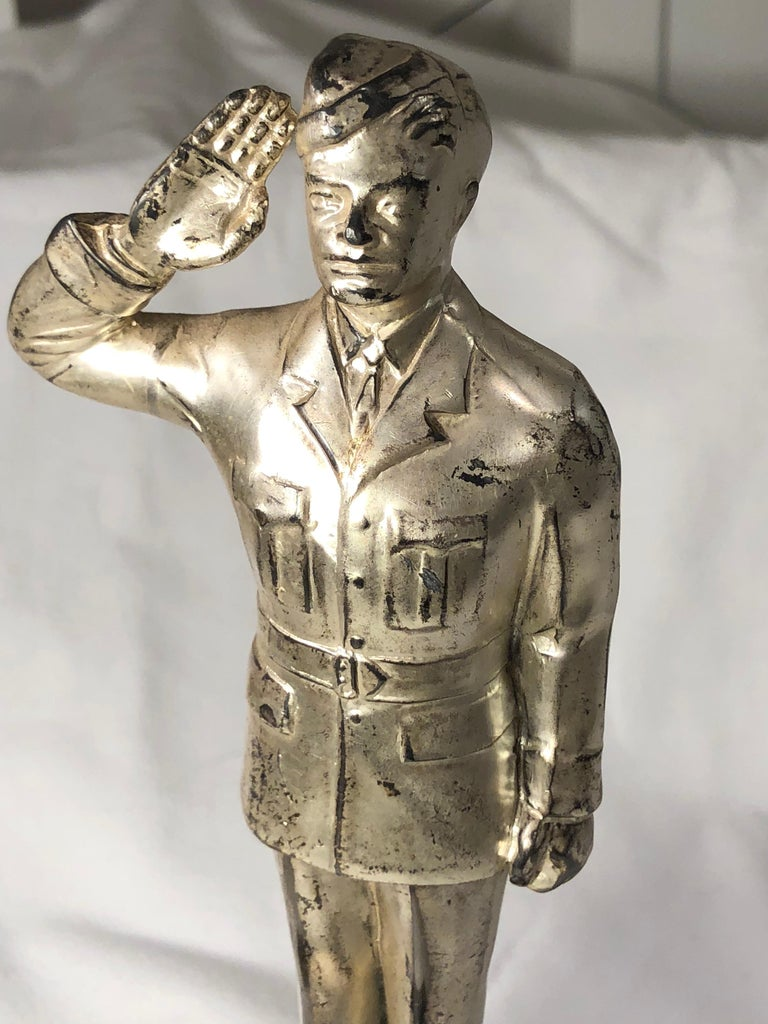 Painted World War II Officer Trophy For Sale
