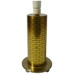 World War Two Trench Art, Brass Shell Case Table Lamp, USA, 1940s