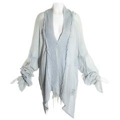 Worlds End dove grey cotton gauze oversized 'Punkature' jacket, ss 1983