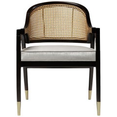Wormley Chair, Contemporary Dining Chair with Caned Backrest