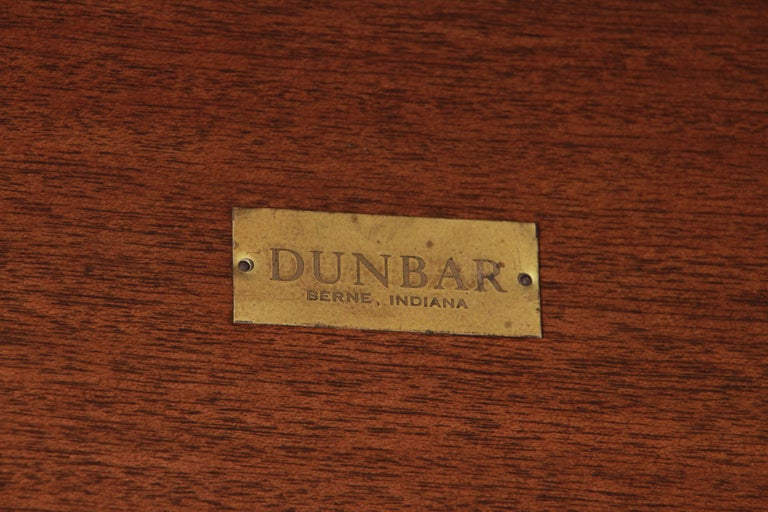 Wormley for Dunbar Two-Tier Walnut and Brass Cocktail Table, Newly Restored For Sale 6