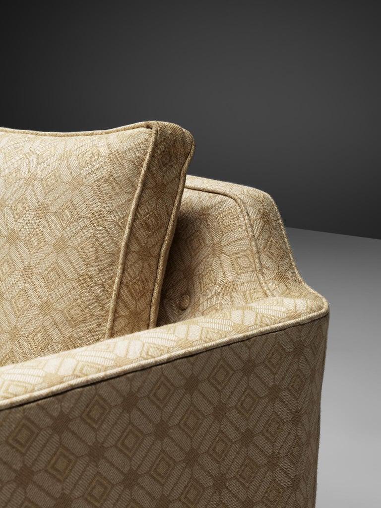 Edward Wormley Sofa Model 495 in Soft Yellow Fabric 2