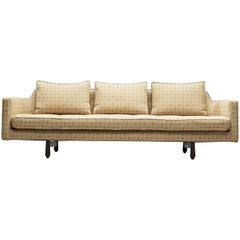 Edward Wormley Sofa Model 495 in Soft Yellow Fabric