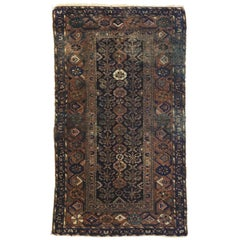 Worn-In Distressed Antique Persian Hamadan Accent Rug