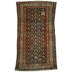 Worn-In Distressed Antique Persian Malayer Rug with Adirondack Lodge Style