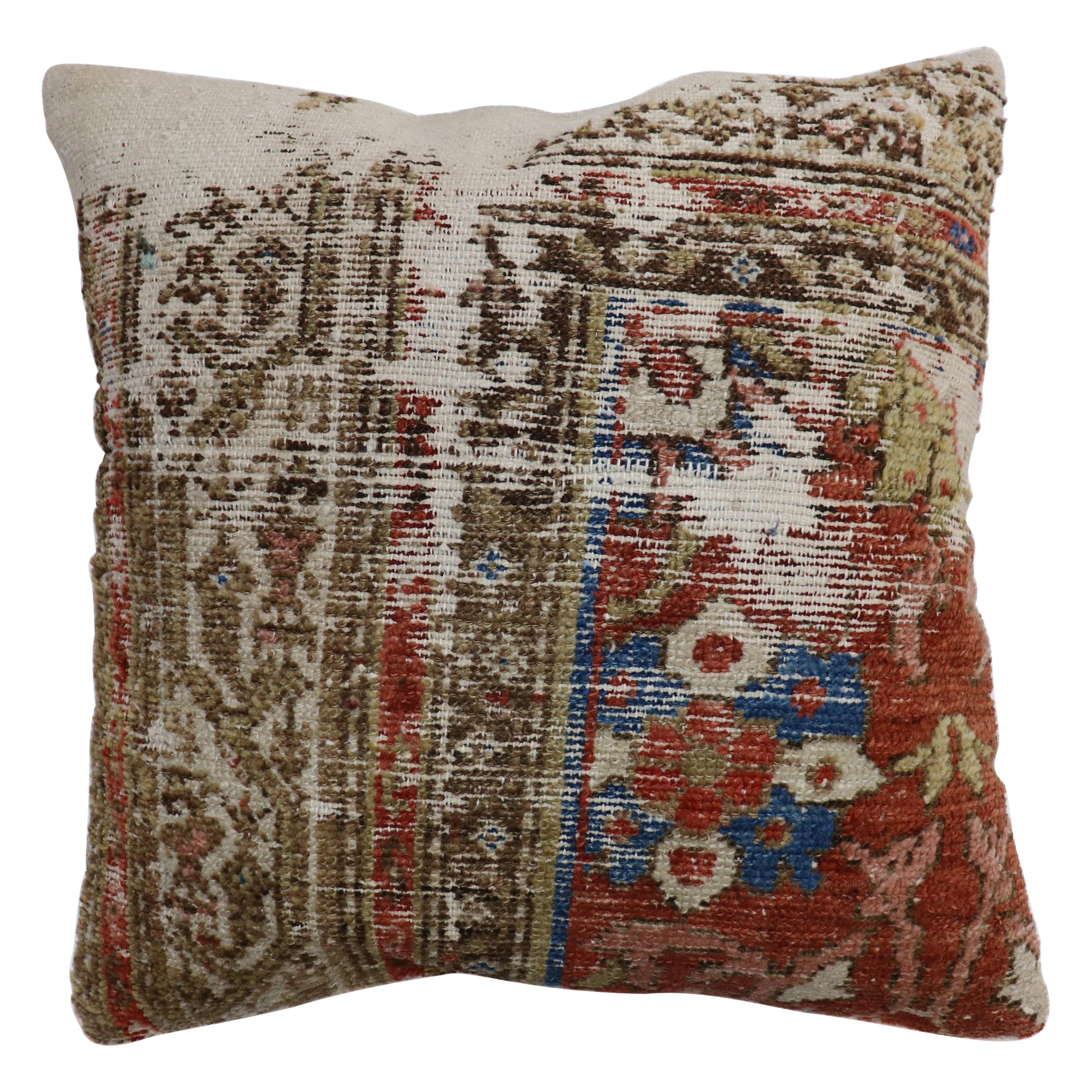Worn Persian Rug Pillow