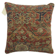 Worn Rustic Persian Rug Pillow
