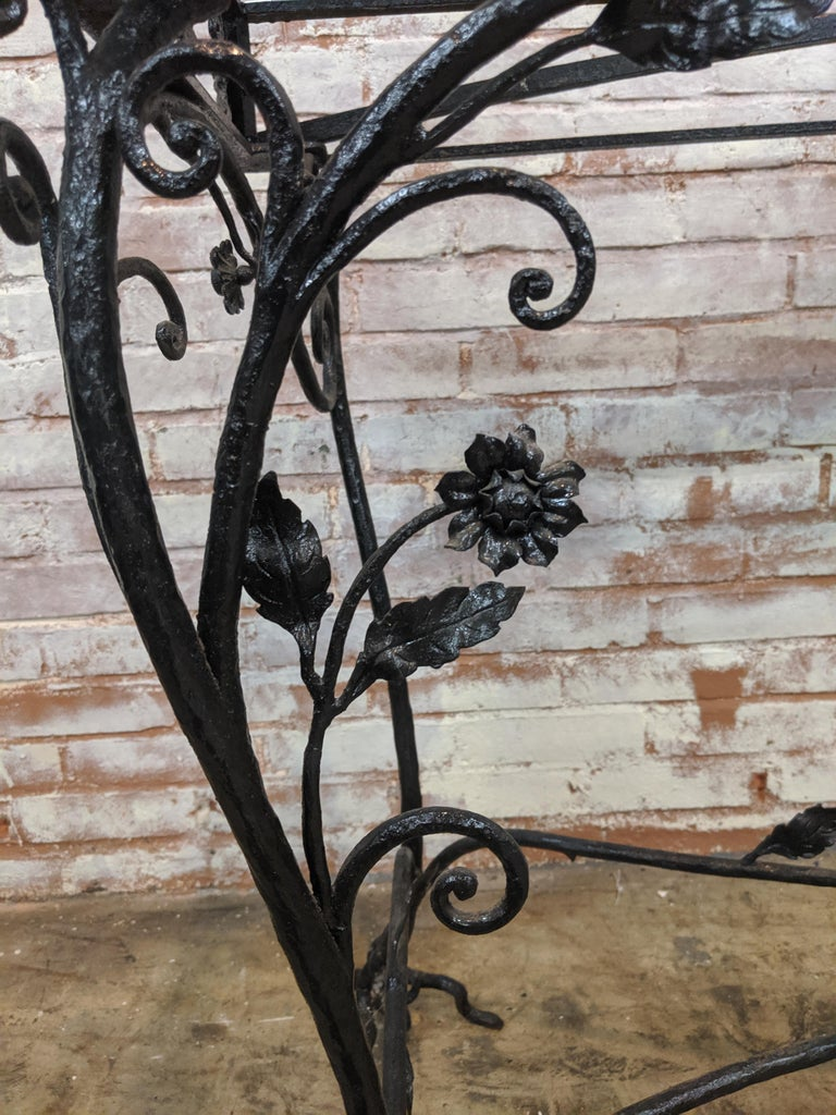20th Century Wought Iron Console Table For Sale