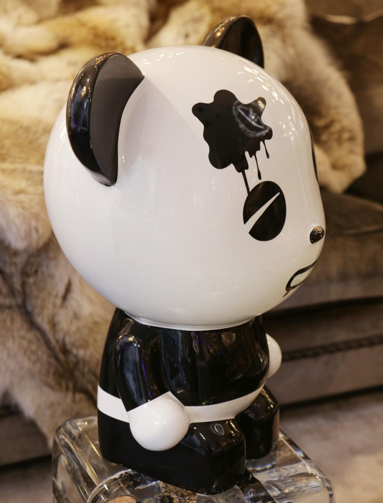 Wounded Panda Sculpture by Jiji In New Condition For Sale In Paris, FR