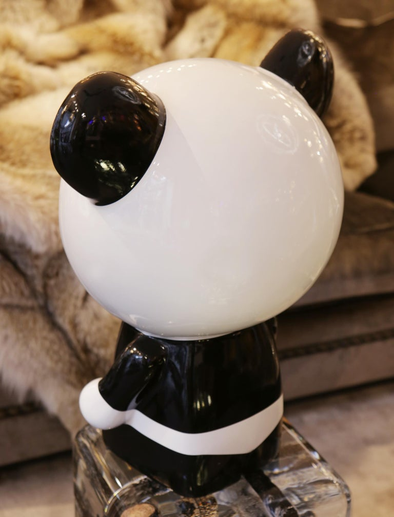 Contemporary Wounded Panda Sculpture by Jiji For Sale