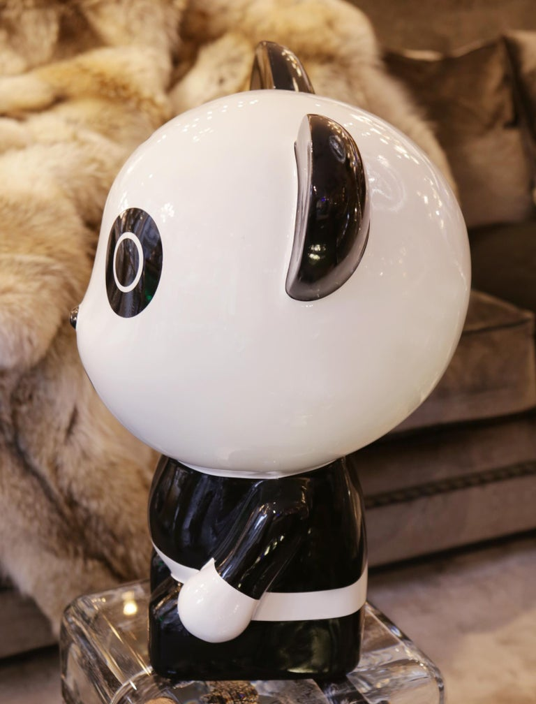 Resin Wounded Panda Sculpture by Jiji For Sale