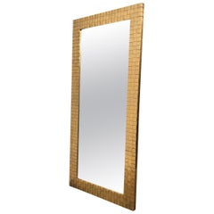 Woven Brass Mirror by Chapman Dated 1978