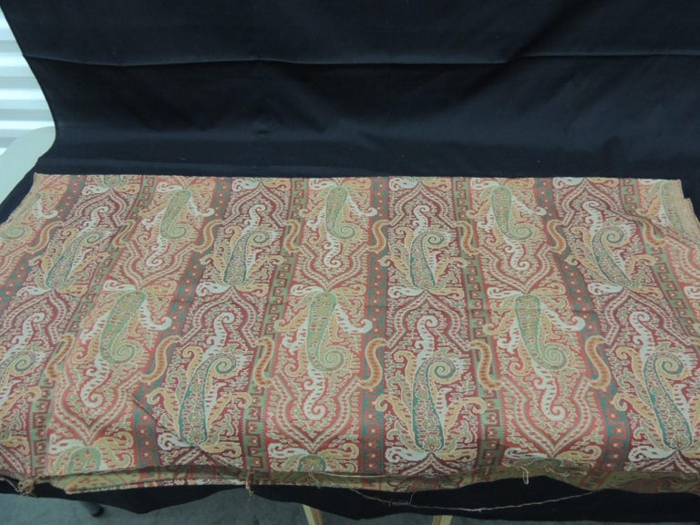 Moorish Woven Brunschwig & Fils Paisley Woven Fabric For Sale