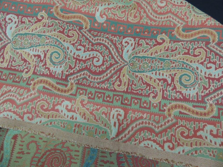 European Woven Brunschwig & Fils Paisley Woven Fabric For Sale