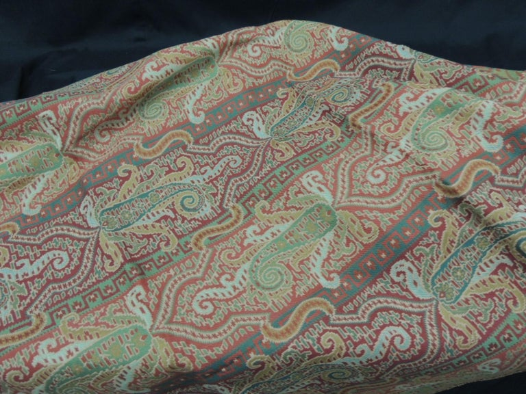 Machine-Made Woven Brunschwig & Fils Paisley Woven Fabric For Sale