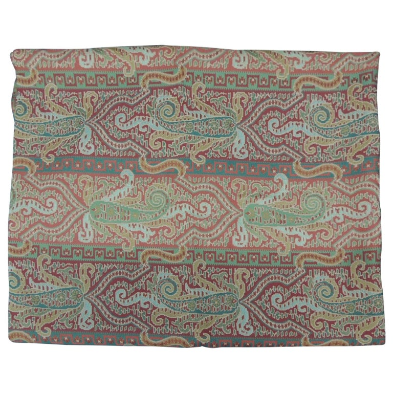 Woven Brunschwig & Fils Paisley Woven Fabric For Sale