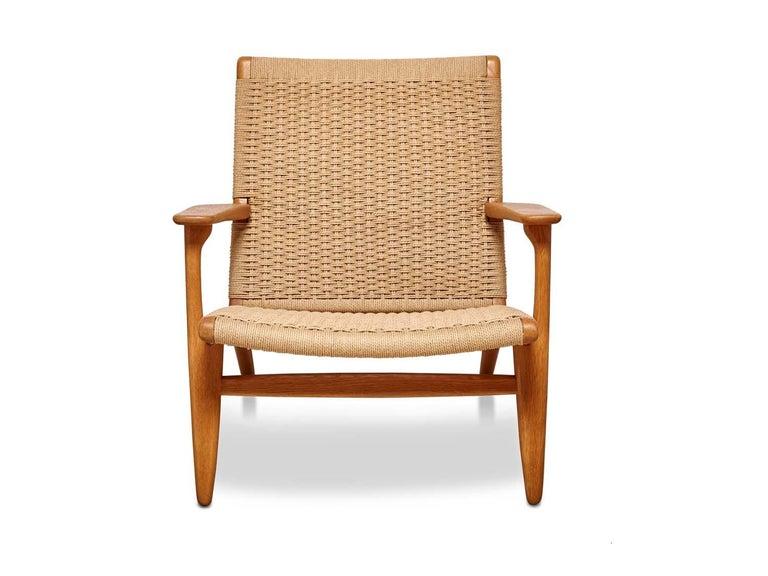 Mid-Century Modern Woven CH25 Chair by Hans Wegner for Carl Hansen & Son For Sale