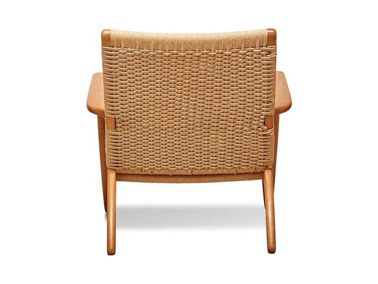 Danish Woven CH25 Chair by Hans Wegner for Carl Hansen & Son For Sale
