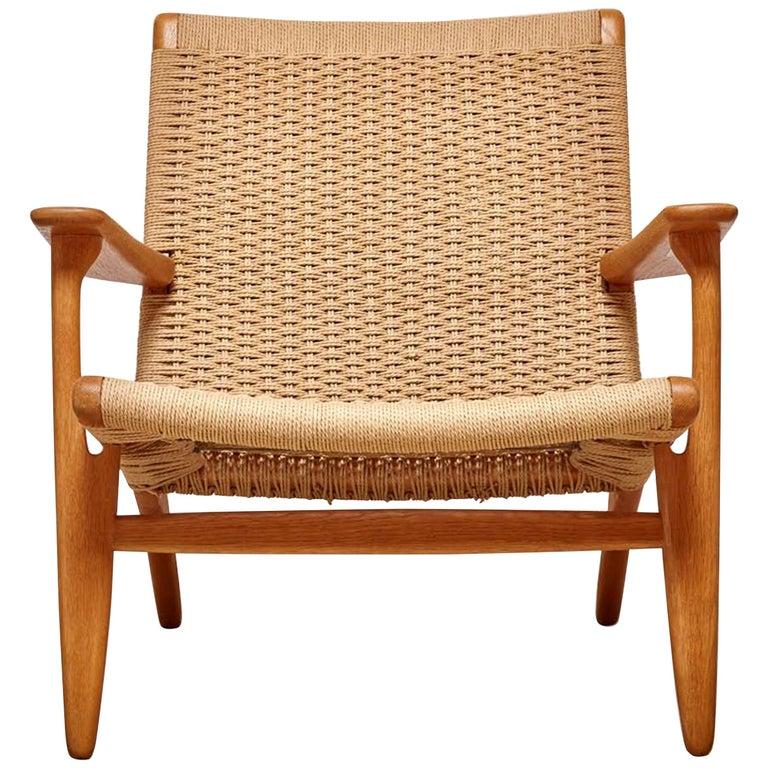 Woven CH25 Chair by Hans Wegner for Carl Hansen & Son For Sale