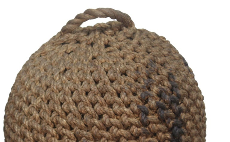 20th Century Woven Coir Nautical Ship Fender, Now Ottoman or Foot Stool, 1970s For Sale