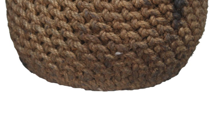 Rope Woven Coir Nautical Ship Fender, Now Ottoman or Foot Stool, 1970s For Sale