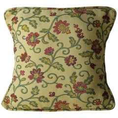 Woven Cushion or Pillow in Art Nouveau Floral Vine Style, 20th Century