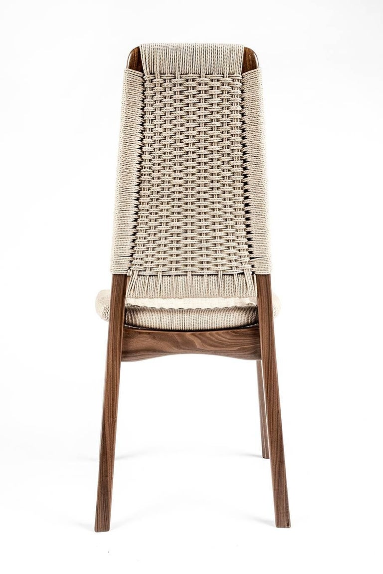 Chair, Woven Danish Cord, Walnut, Hardwood, Mid Century, Dining, Office,Semigood In New Condition For Sale In Issaquah, WA