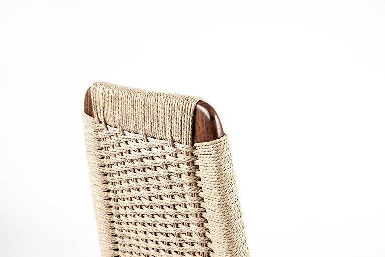 Chair, Woven Danish Cord, Walnut, Hardwood, Mid Century, Dining, Office,Semigood For Sale 2