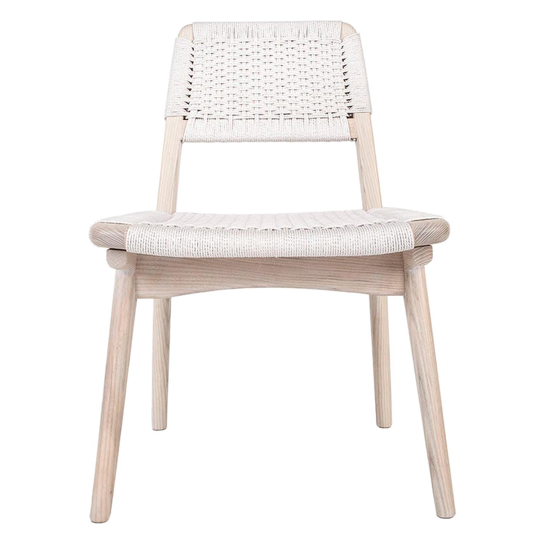 Woven Danish Cord Chair, Pickled White Ash, Hardwood, Custom, Dining