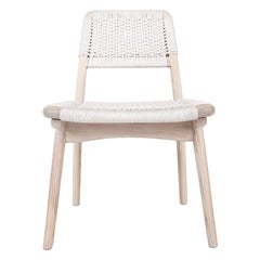 Woven Danish Cord Chair, Pickled White Ash, Hardwood, Custom, Dining