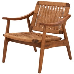 Woven Danish-Style Lounge Chair