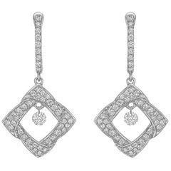 Woven Diamond-Shaped Drop Earrings