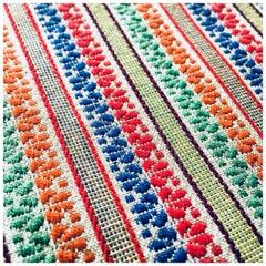 Woven Floral Vintage Textile