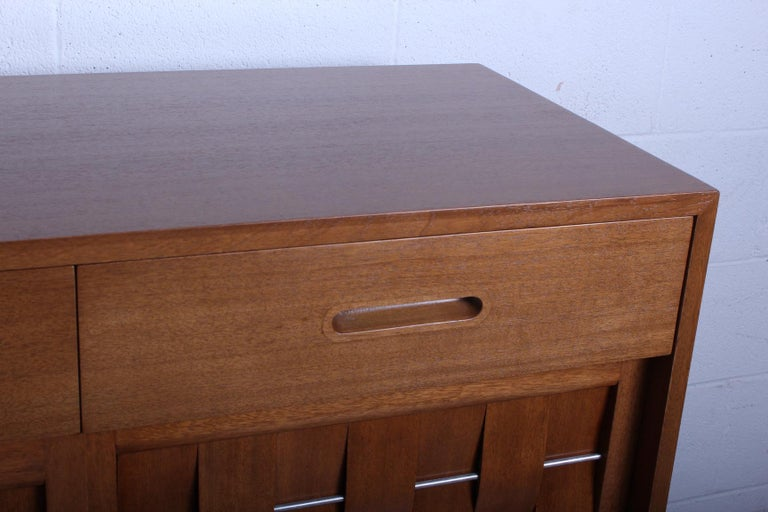 Woven Front Cabinet by Edward Wormley for Dunbar In Good Condition For Sale In Dallas, TX