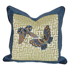 Woven Geometric Butterfly Pillow