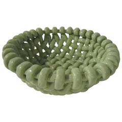 Woven Glazed Ceramic Bowl by Jerome Massier