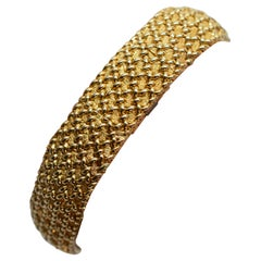 Woven Gold Mesh Bracelet with Mystery Watch by Concord