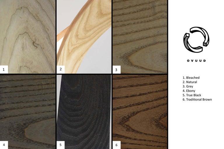American Woven ii, Hanging Multi-Element Freeform Wooden Pendant Light For Sale