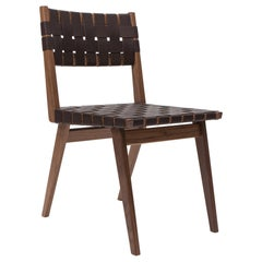 Woven Leather Dining Side Chair in Brown by Mel Smilow