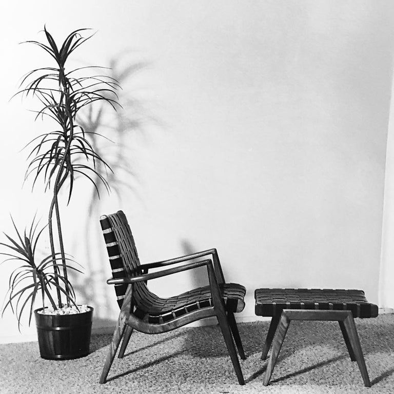 Woven Leather Lounge Chair in Black by Mel Smilow In New Condition For Sale In New York, NY