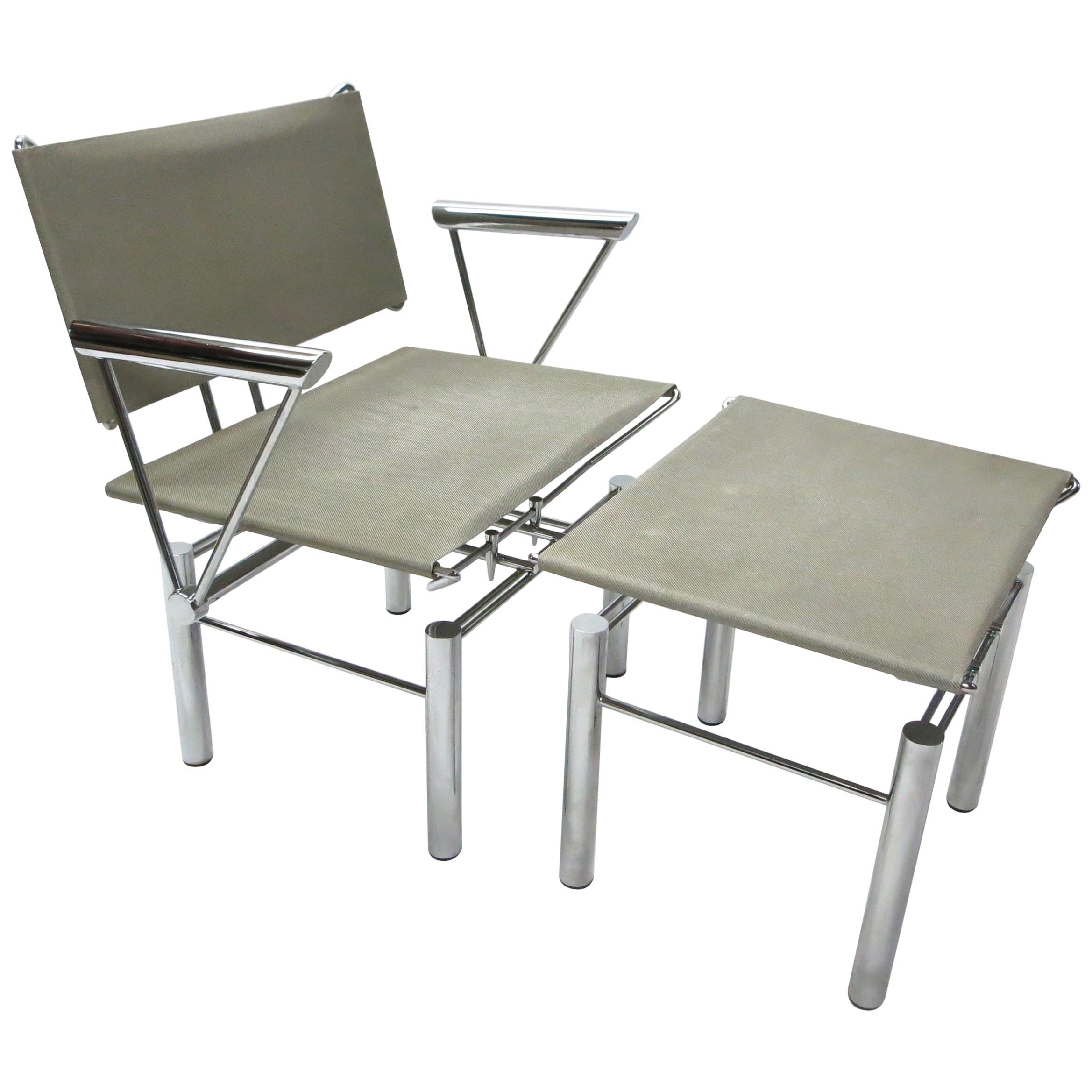 Woven metal furniture Outdoor Woven Metal And Steel Series 8600 Chair And Ottoman By Hans Ullrich Bitsch 1982 For Aliexpress Woven Metal And Steel Series 8600 Chair And Ottoman By Hans Ullrich