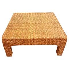 Woven Rattan Coffee Table